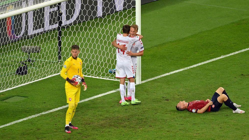 Kasper Dolberg erzielte das zwischenzeitliche 2:0 für die Dänen.