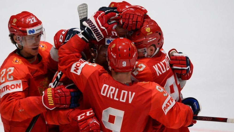 Russland bejubelte den siebten Sieg im siebten Spiel - Bildquelle: AFPSIDVLADIMIR SIMICEK