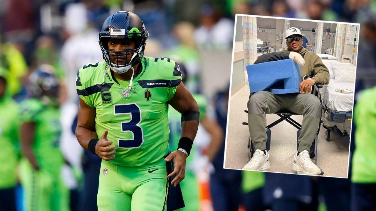 Seattle Seahawks: Russell Wilson zeigt sich nach Operation am Finger - Bildquelle: imago/twitter: @dangerusswilson