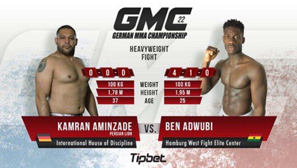 Ben Adwubi aka Ben Fresh und Kamran Aminzade treffen bei GMC 22 aufeinander.