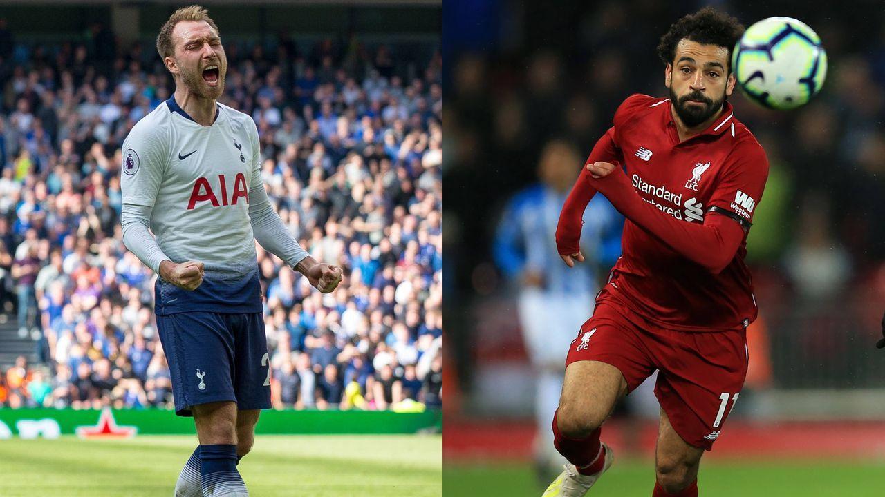 Christian Eriksen vs. Mohamed Salah - Bildquelle: imago