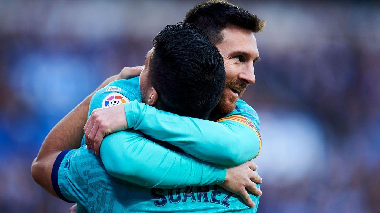 Lionel Messi (FC Barcelona) und Luis Suarez (Atletico Madrid) - Bildquelle: Getty Images