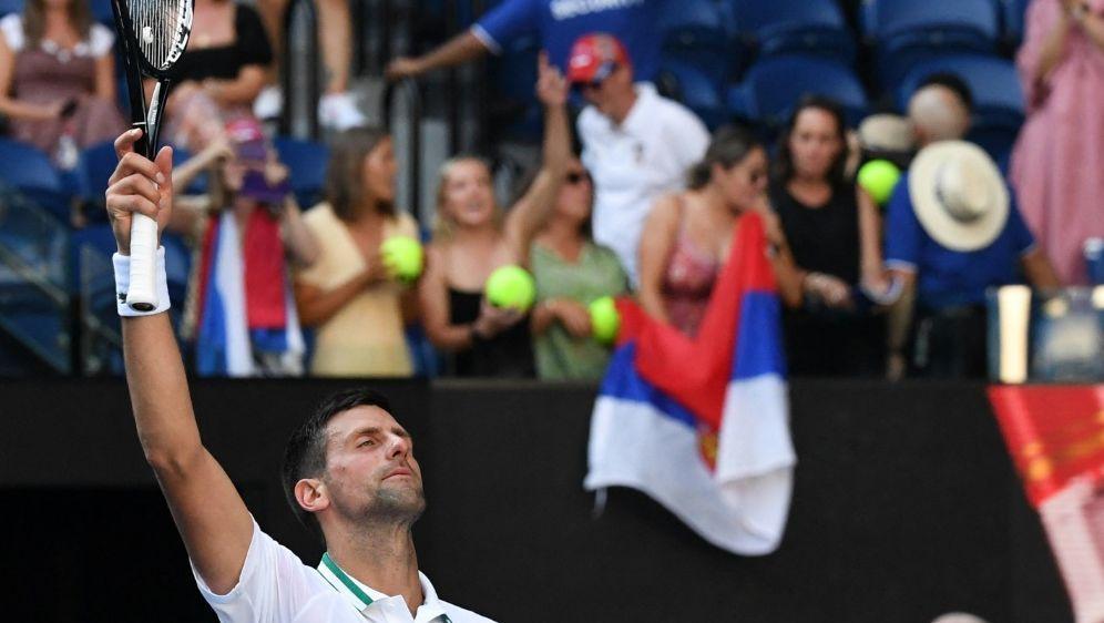 Mit Mühe weiter: Novak Djokovic - Bildquelle: AFPSIDPAUL CROCK
