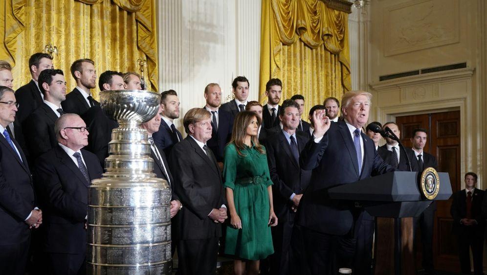 Die Pittsburgh Penguins zu Gast im Weißen Haus - Bildquelle: AFPSIDMANDEL NGAN