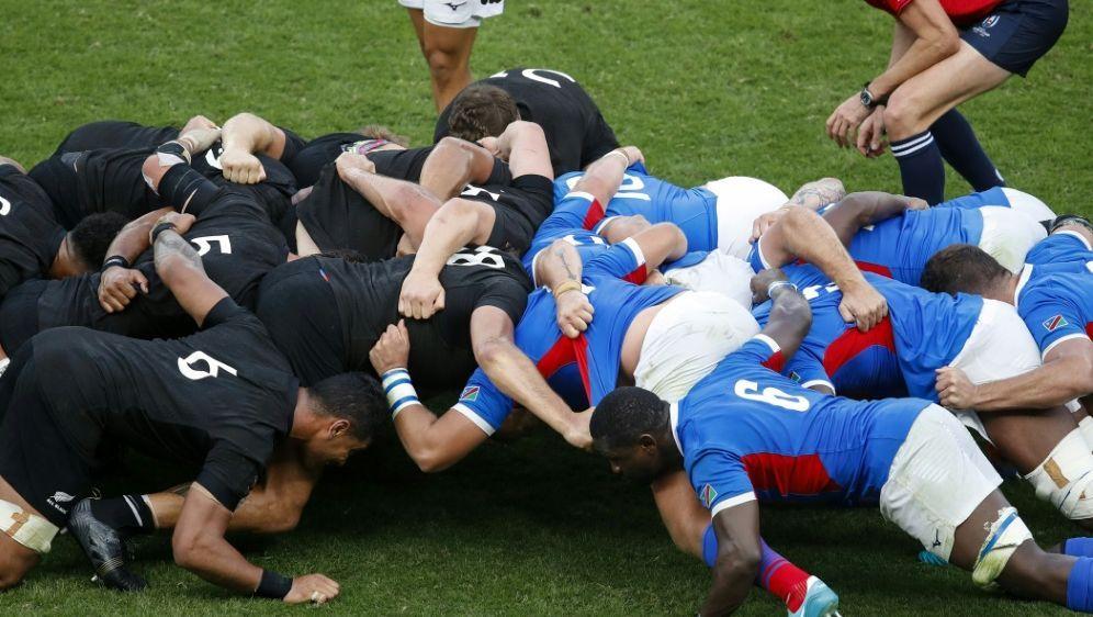Kein Gedränge: Das Spiel zwischen Namibia und Kanada fällt aus - Bildquelle: AFPSIDODD ANDERSEN