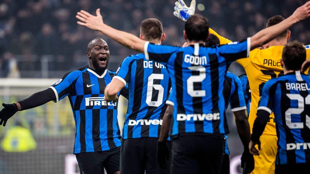 Platz 7 - Inter Mailand - Bildquelle: imago images/Bildbyran