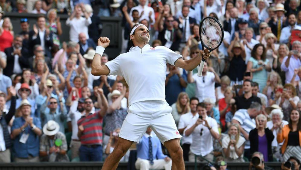 Steht im Finale von Wimbledon: Roger Federer - Bildquelle: AFPAFPBen STANSALL