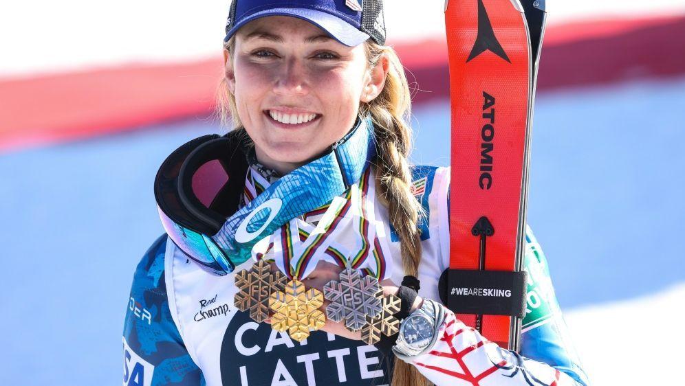 Skirennläuferin Mikaela Shiffrin in Führung - Bildquelle: FIROFIROSID