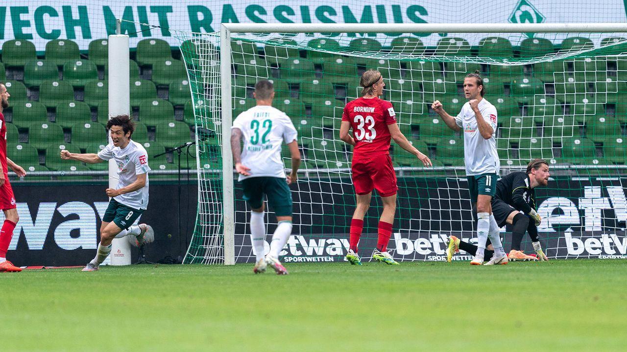 22. Minute: Werder geht in Führung - Bildquelle: Imago