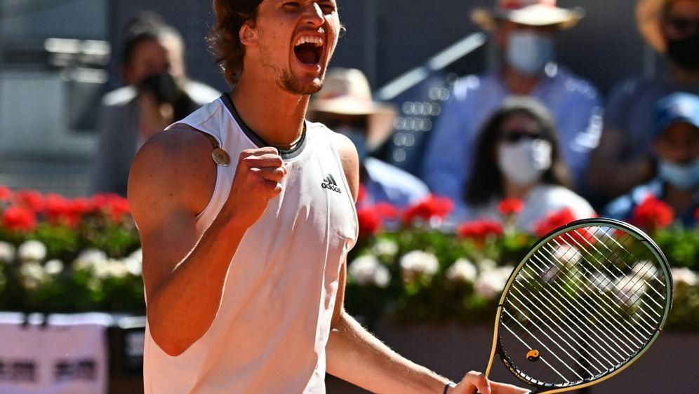 Geht mit Vorfreude ins Halbfinale: Alexander Zverev - Bildquelle: AFPSIDGABRIEL BOUYS