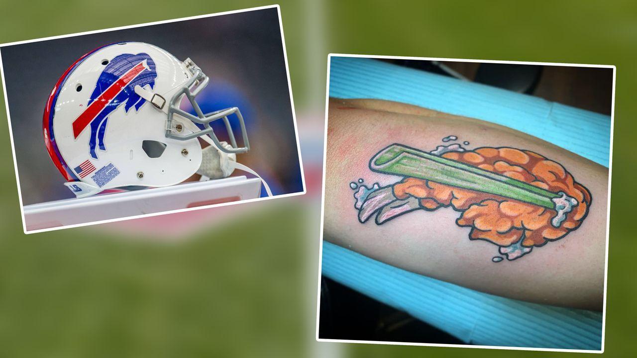 Bills-Fan lässt sich verrücktes Logo stechen - Bildquelle: Imago/Daily Snark