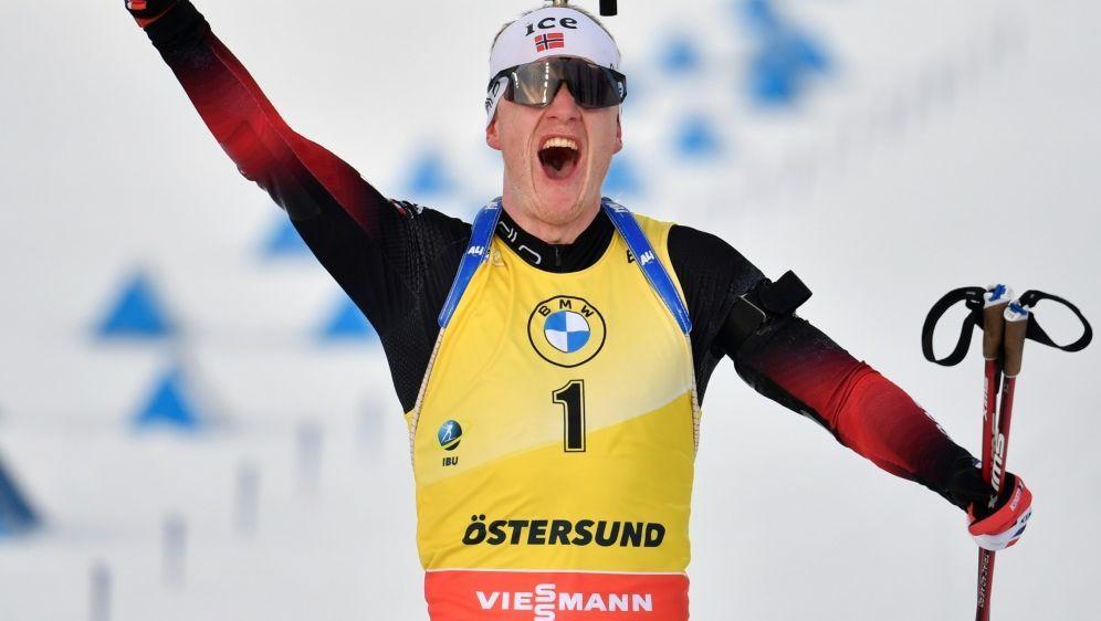 Johannes Thingnes Bö holt sich den Gesamtweltcupsieg - Bildquelle: AFPSIDAnders WIKLUND