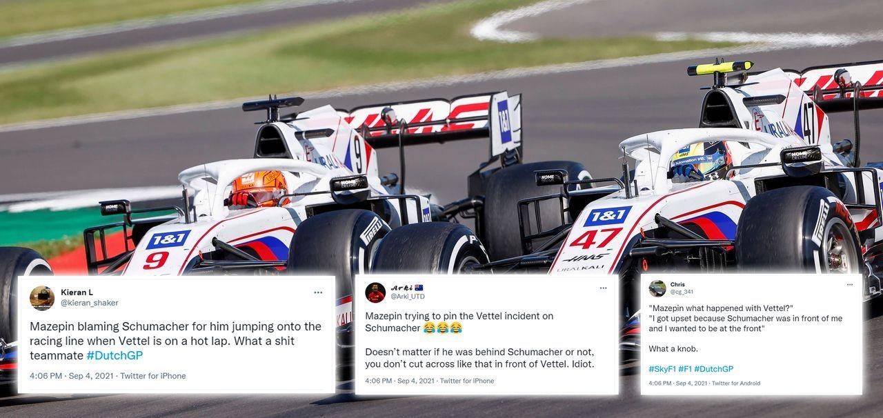 Mazepin schiebt die Schuld auf Schumacher - Bildquelle: imago images/Motorsport Images