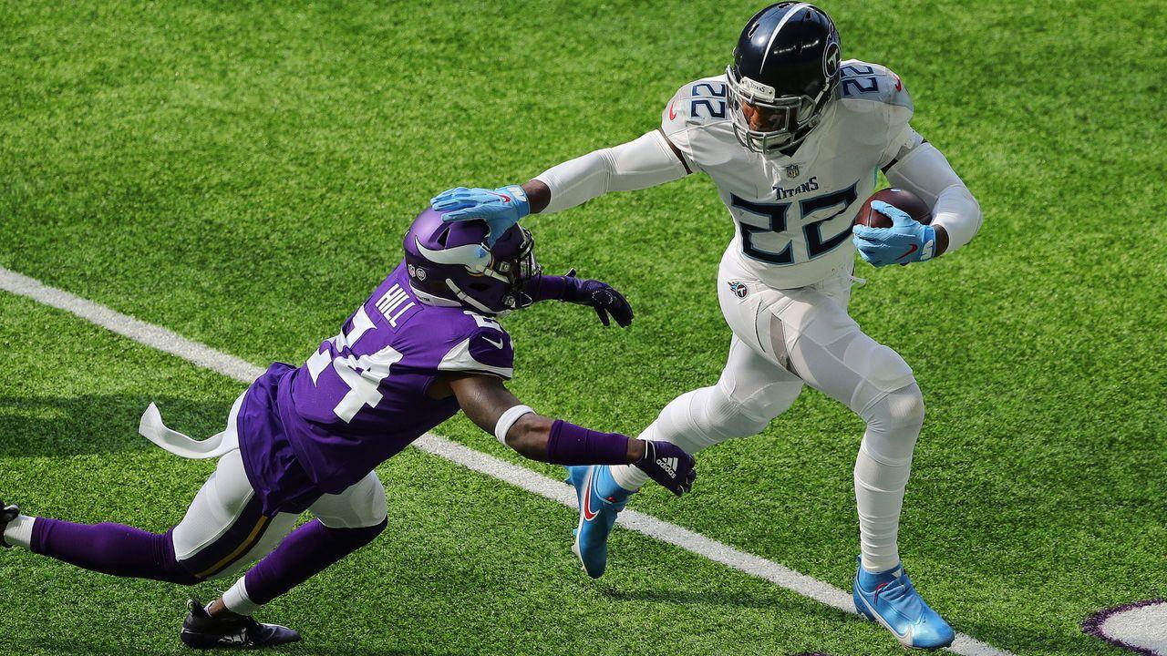 Platz 3: Derrick Henry (Running Back, Tennessee Titans) - Bildquelle: 2020 Getty Images