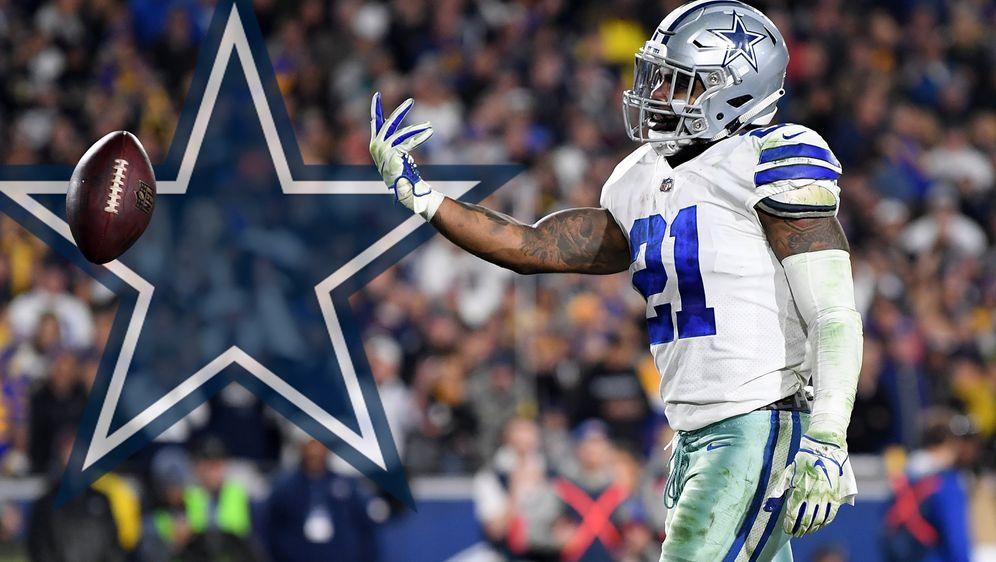 Ezekiel Elliott von den Dallas Cowboys droht angeblich mit einem Trainingsst... - Bildquelle: 2019 Getty Images