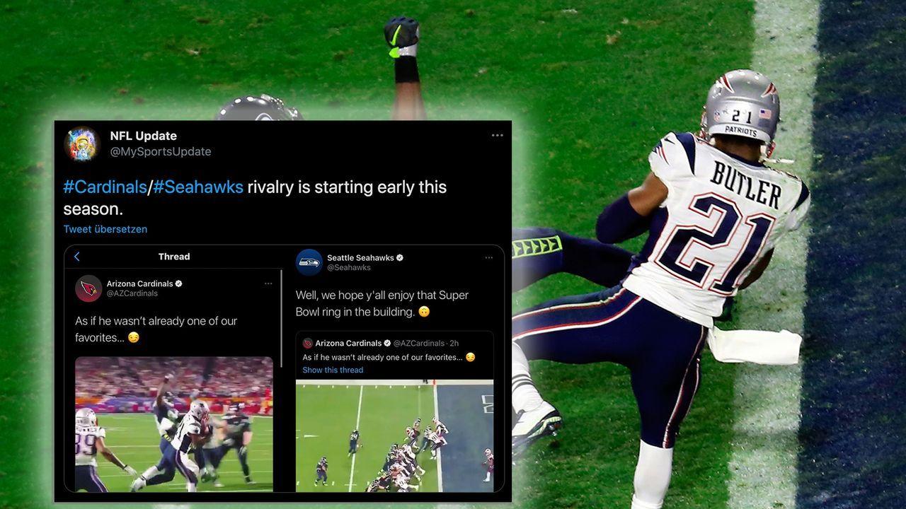 Cardinals und Seahawks beefen sich auf Twitter - Bildquelle: Getty Images/Twitter: @mysportsupdate