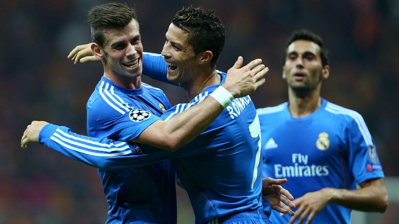Gareth Bale und Cristiano Ronaldo (Real Madrid, Saison 2013/14) - Bildquelle: 2013 Getty Images