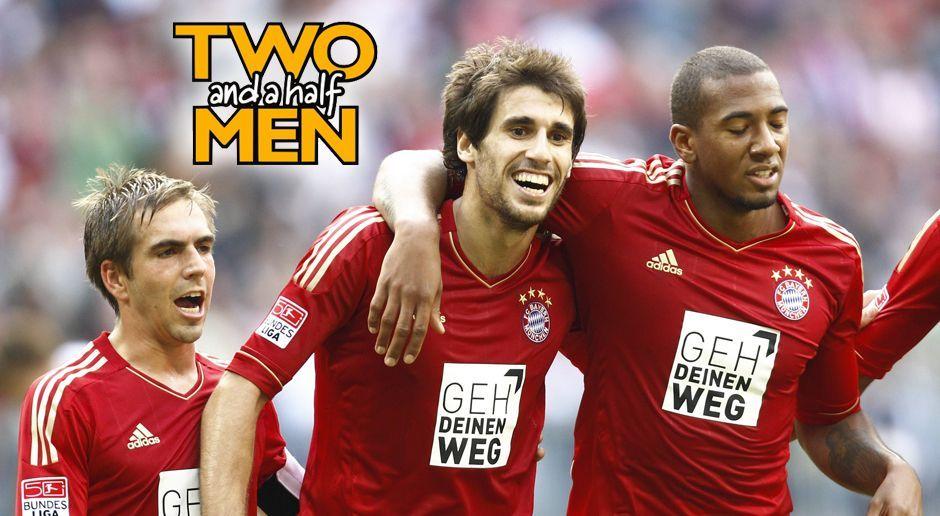 Philipp Lahm, Jerome Boateng und Javi Martinez - Two and a half Men - Bildquelle: imago sportfotodienst