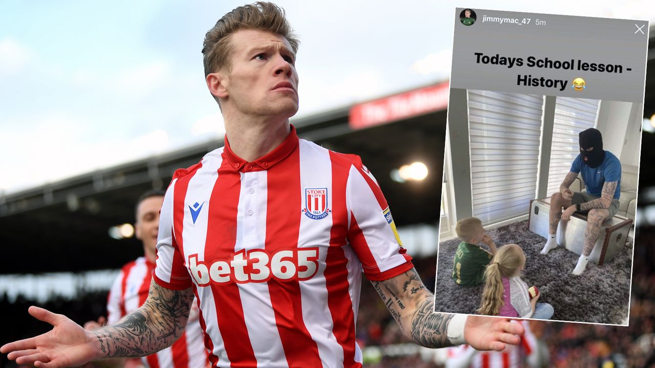 Nach Sturmhauben-Post: Mega-Ärger für Stoke-Profi James McClean - Bildquelle: Getty Images/twitter@kieren_orr