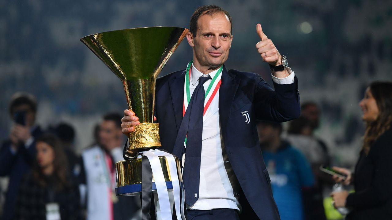 Platz 4: Massimiliano Allegri (vereinslos) - Bildquelle: 2019 Getty Images