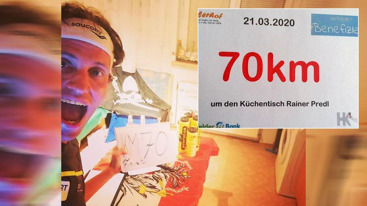 Extremsportler Rainer Predl läuft 70 Kilometer um Küchentisch  - Bildquelle: rainerpredl/instagram