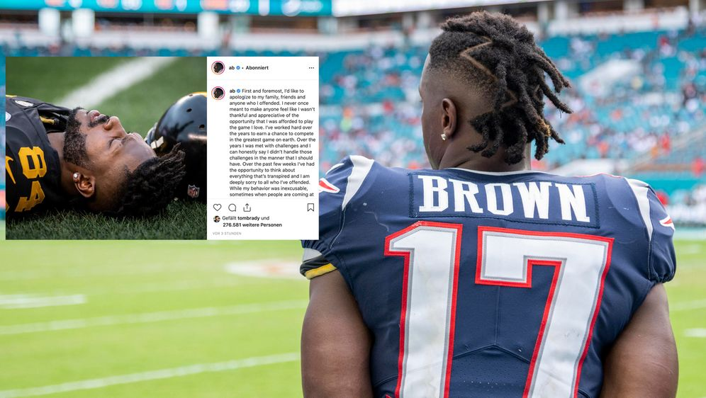 Antonio Brown entschuldigt sich. - Bildquelle: imago images / Icon SMI