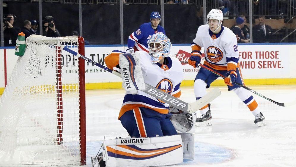 """Greiss überragt im """"Battle of New York"""" in der NHL - Bildquelle: GETTY IMAGES NORTH AMERICAGETTY IMAGES NORTH AMERICASIDBRUCE BENNETT"""