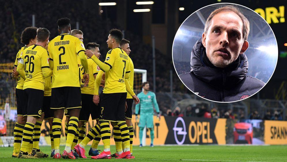 Borussia Dortmund empfängt im Achtelfinale der Champions League Paris St. Ge... - Bildquelle: Getty Images/Imago