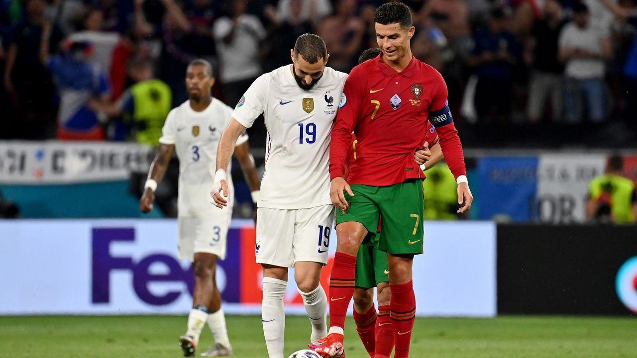 Benzema kontert Ronaldo - Bildquelle: 2021 Getty Images
