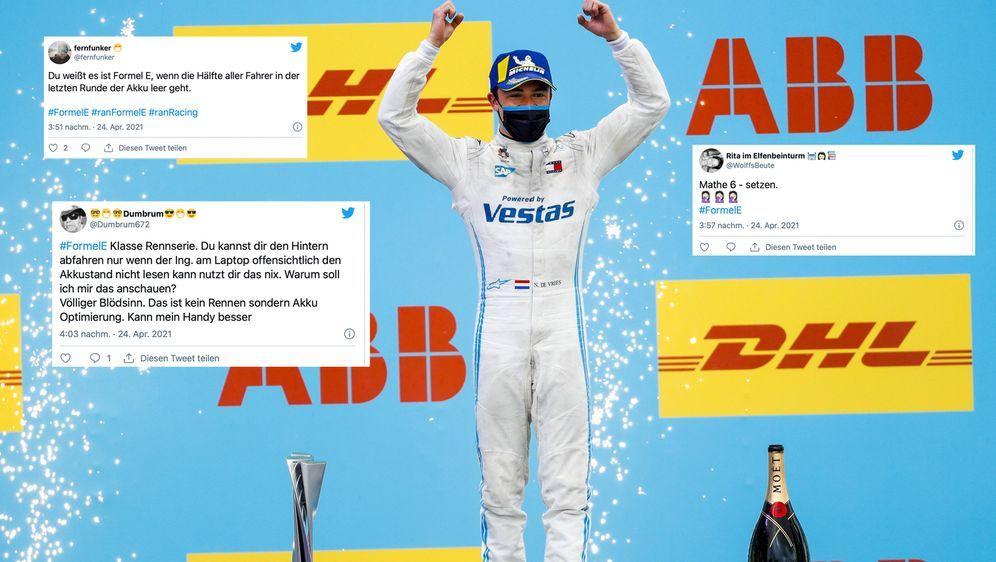 Reaktionen zum Formel-E-Rennen in Valencia. - Bildquelle: imago images/Shutterstock