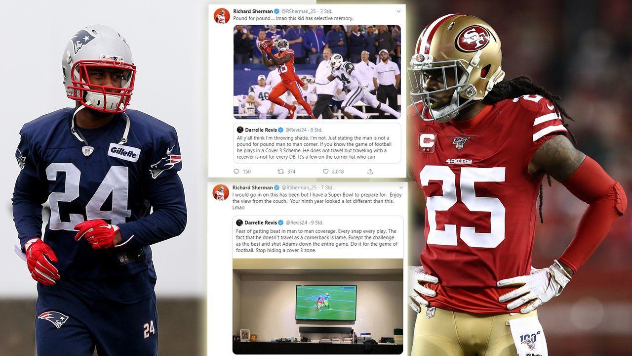 Richard Sherman und NFL-Legende mit Twitter-Beef - Bildquelle: Getty Images