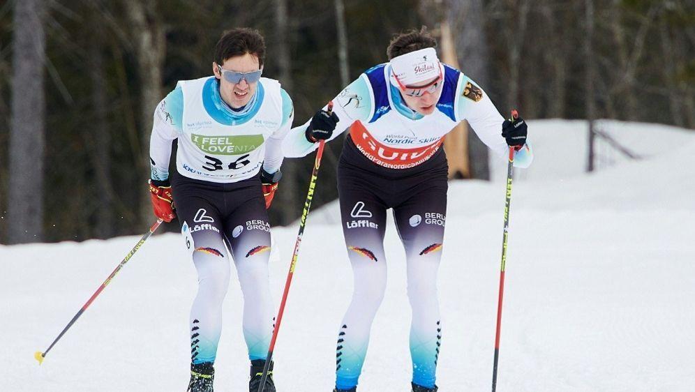 Messinger (l.) im Rennen zusammen mit Guide Wunderle - Bildquelle: ADRIAN STYKOWSKIADRIAN STYKOWSKISID