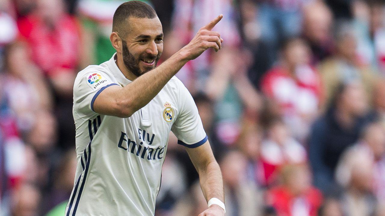 Platz 10: Karim Benzema (Real Madrid)  - Bildquelle: 2017 Getty Images