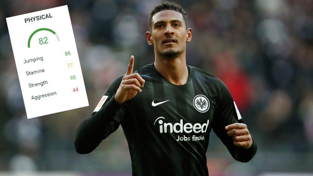 Frankfurts Torjäger Sebastien Haller ist mit einem Wert von 98 der stärkste ... - Bildquelle: Getty Images/futhead.com