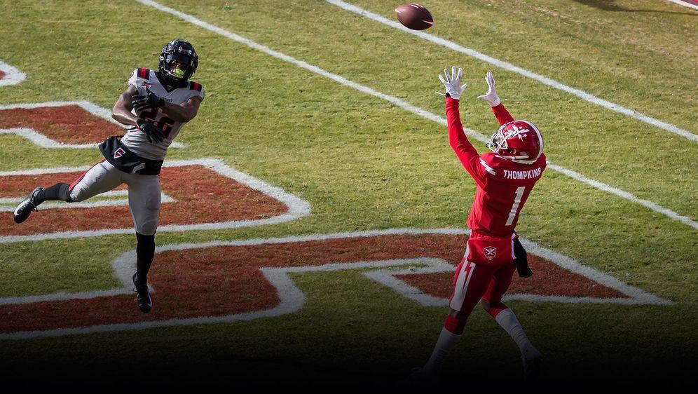 DC-Receiver Thompkins schnappt sich den Touchdown. - Bildquelle: 2020 Getty Images