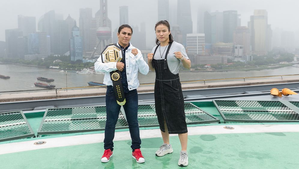 Jessica Andrade und Weili Zhang kämpfen um den WM-Titel im Strohgewicht - Bildquelle: Getty Images