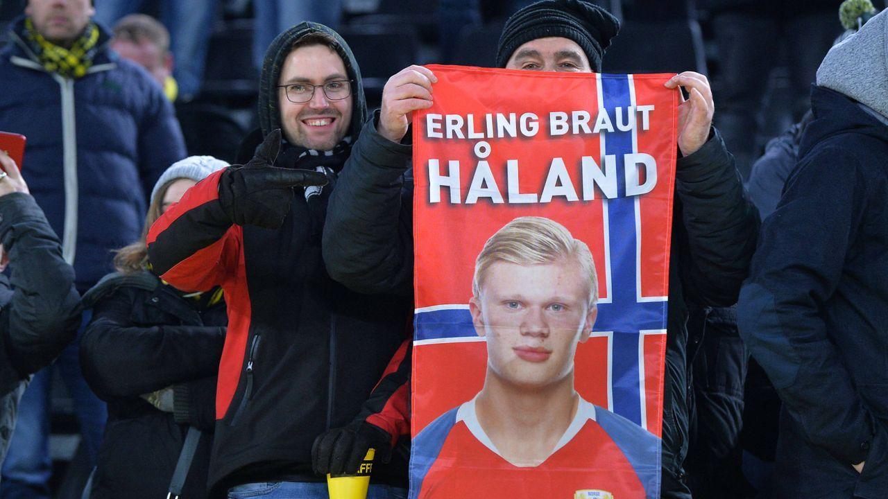 Haaland lässt norwegische Landsleute jubeln - Bildquelle: imago