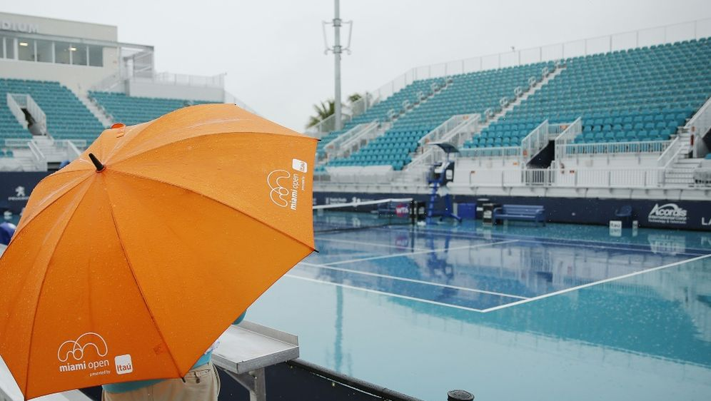Tennis in Miami: Regen verhindert viele Auftaktpartien - Bildquelle: GETTY IMAGES NORTH AMERICA  AFPSIDMichael Reaves