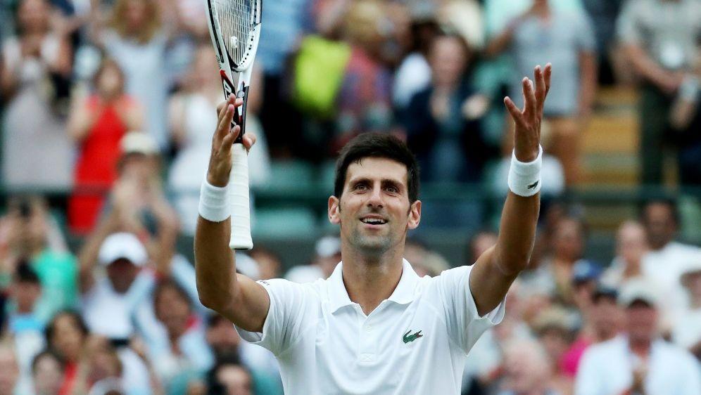 Djokovic steht nach seinem Sieg gegen Nadal im Finale - Bildquelle: PIXATHLONPIXATHLONSID