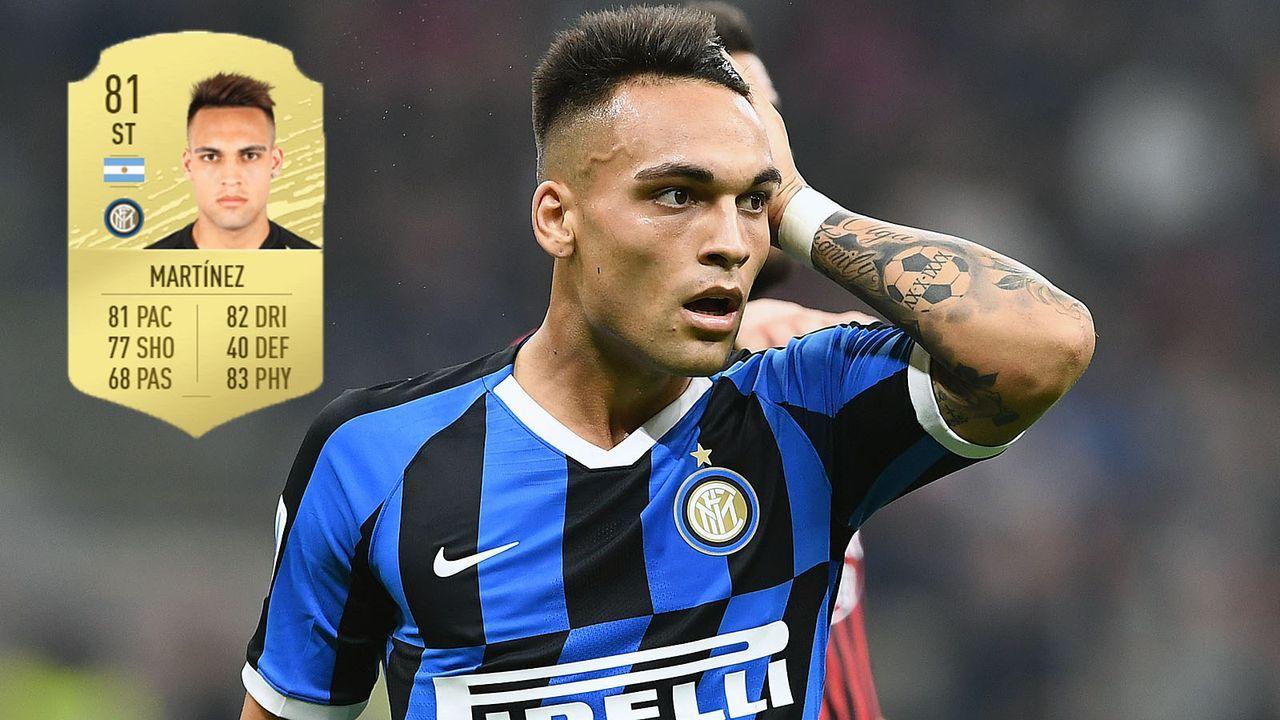Angriff: Lautaro Martinez (+8/Inter Mailand) - Bildquelle: imago images/Gribaudi/ImagePhoto