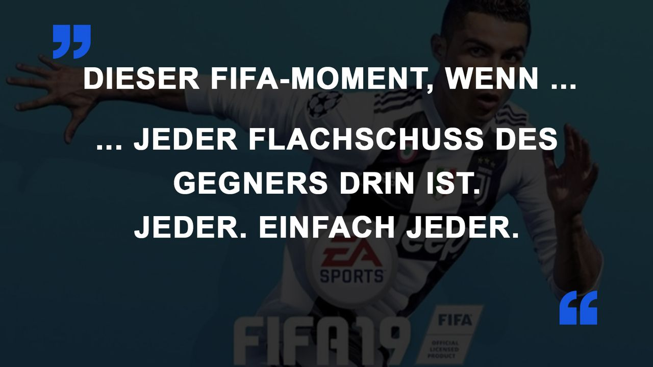 FIFA Momente Flachschuss
