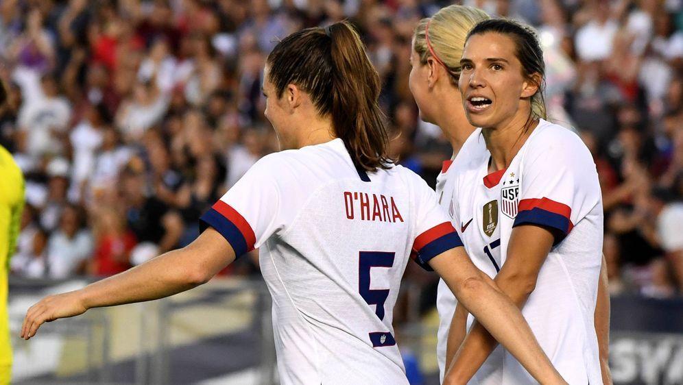 Die Frauenfußballerinnen streiten mit dem US-Verband um die gleiche Bezahlun... - Bildquelle: AFPGETTY SIDPaul Morigi