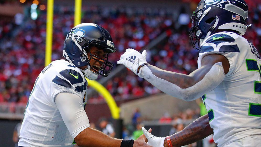 Hatten eine Menge Spaß in Atlanta: Russell Wilson (l.) und Chris Carson feie... - Bildquelle: Getty Images