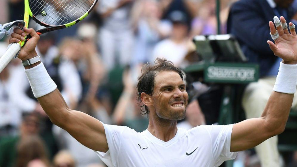 Rafael Nadal erreicht das Viertelfinale von Wimbledon - Bildquelle: AFPSIDBen STANSALL