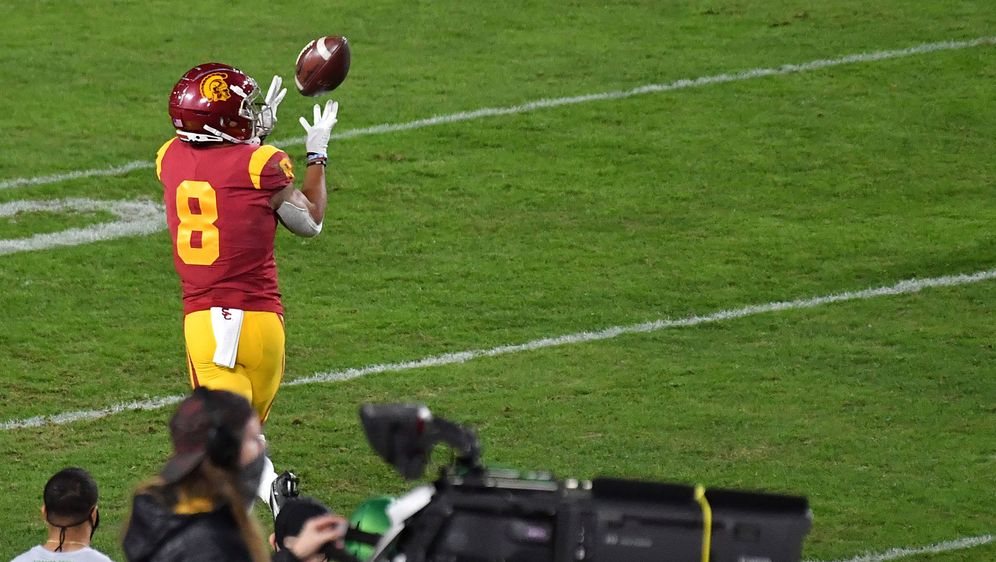 Amon-Ra St. Brown könnte schon bald in der NFL Bälle fangen. - Bildquelle: imago images/ZUMA Wire