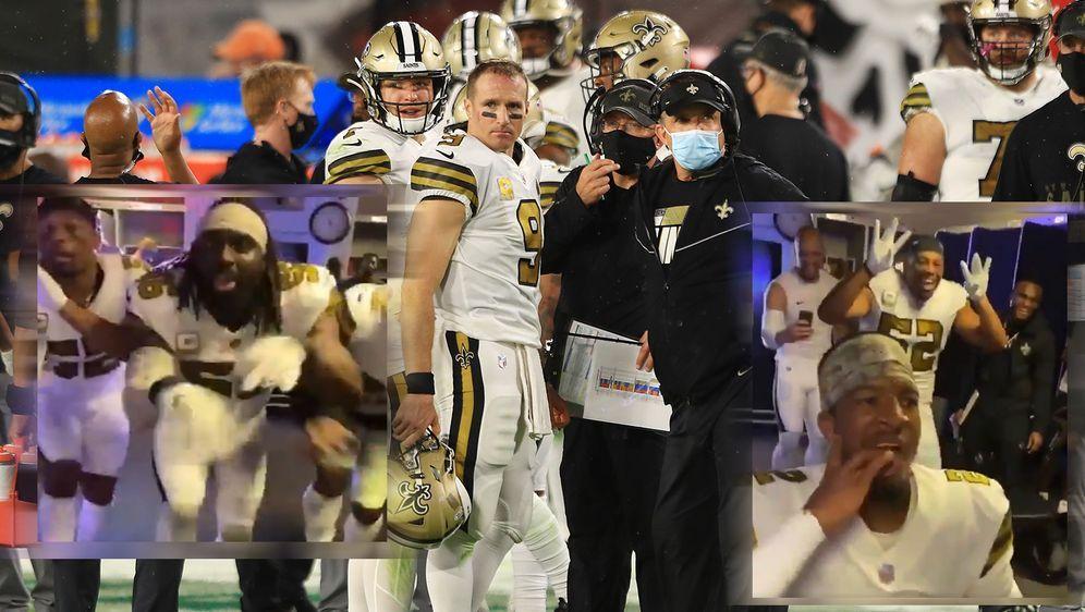 Die Freude über den hohen Sieg gegen Tom Brady und die Tampa Bay Buccaneers ... - Bildquelle: Getty Images