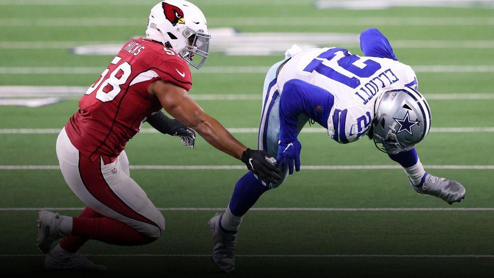 Ezekiel Elliott verlor gegen die Cardinals gleich zweimal den Ball. - Bildquelle: Getty