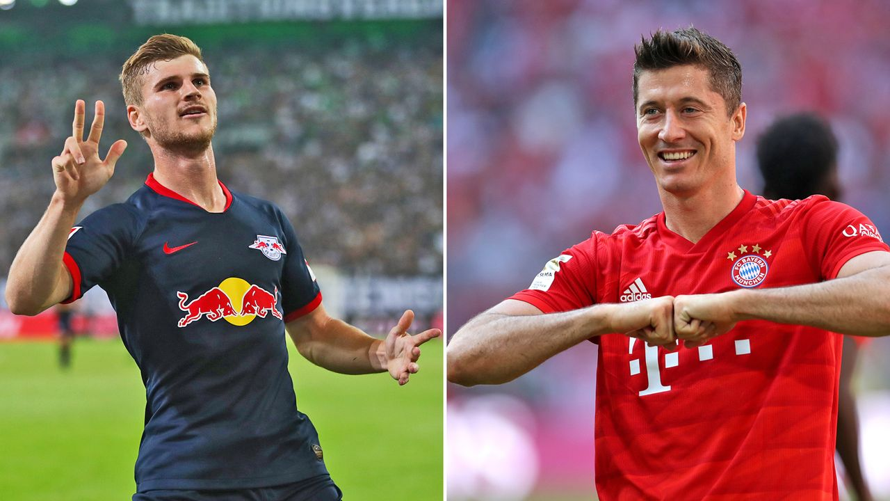 Timo Werner vs. Robert Lewandowski - Bildquelle: 2019 Getty images