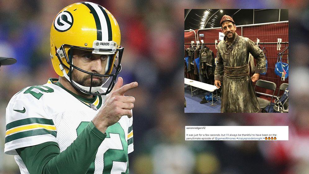 """Vom NFL-Spieler zum """"GoT""""-Statist: Packers-Quarterback Aaron Rodgers - Bildquelle: Getty/Instagram@aaronrodgers12"""