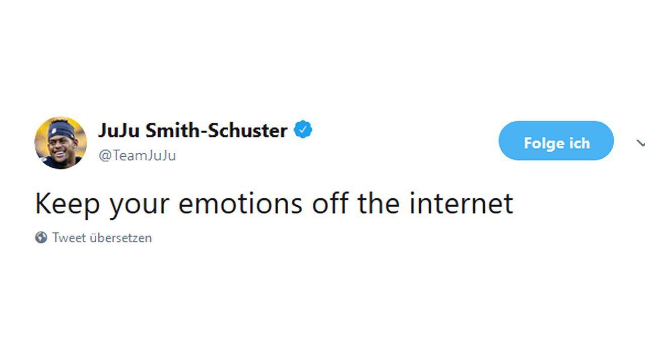 JuJu Smith-Schuster schlägt zurück - Bildquelle: twitter.com/TeamJuJu